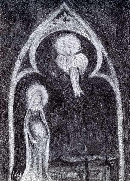 Angel Gabriel, 2015, (Graphite Pencil Study on card)