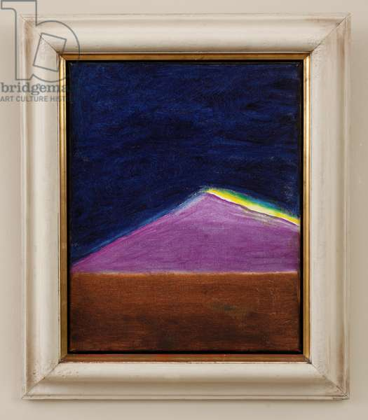 Landscape with Mountain (Holy Island) 1977 (oil on canvas)