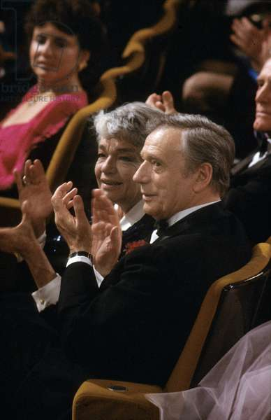Actress Simone Signoret With Yves Montand, 1983 (photo)