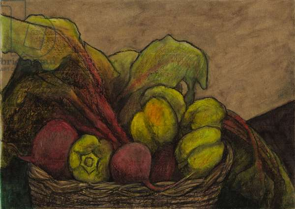 Beetroot with peppers, 2006 (oil pastel on paper)