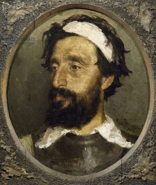 Self-Portrait, by Giovanni Cavalleri (1858-1934), oil on canvas, 46x37 cm, 1881