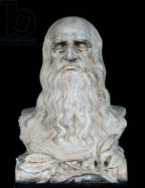 Bust of Leonardo da Vinci, 1913 (plaster)