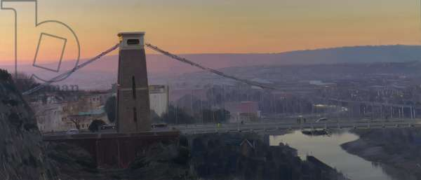 Clifton Suspension Bridge, dawn, December