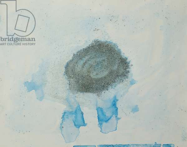 Antarctic Ice Painting: A27, 2008 (Antarctic ice, acrylic, and mixed media on paper)