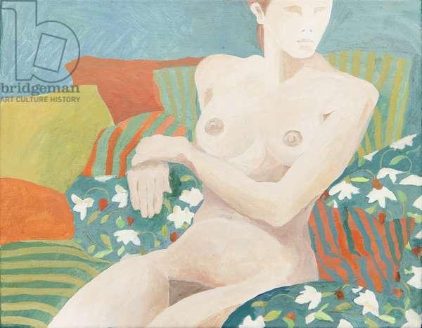Seated nude (acrylic)