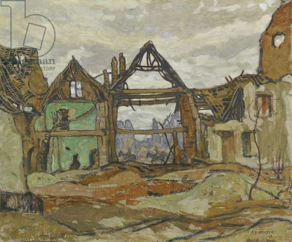 Houses of Ypres, 1917 (oil on canvas)