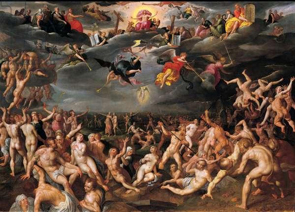 The Last Judgement, 1580 (oil on panel)