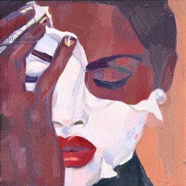 'Face 1', 2012, (oil on primed aluminium)
