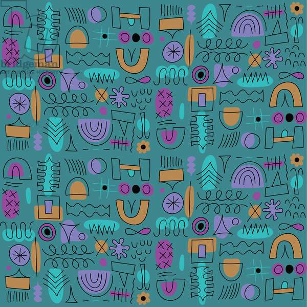 Abstract seamless pattern, 2018, vector graphic