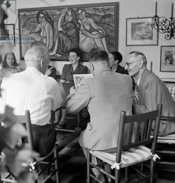 Switzerland Hermann Hesse Literature, 1947 (b/w photo)