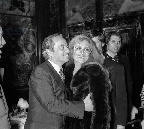 Dalida et Guy Lux (b/w photo)