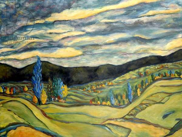 Fall Landscape, 2020 (acrylic on canvas)