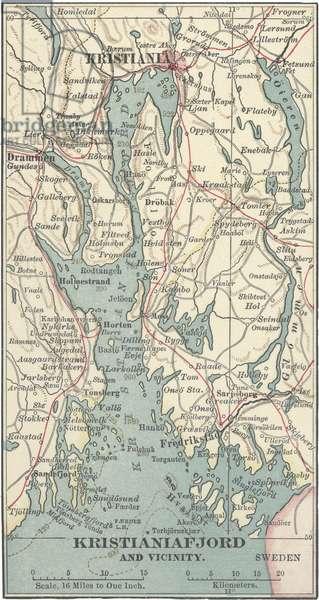 Map of Kristianiafjord, Kristiania