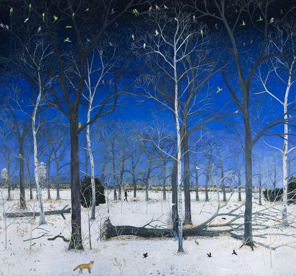 Snowy Woods, 2016, (oil on linen)