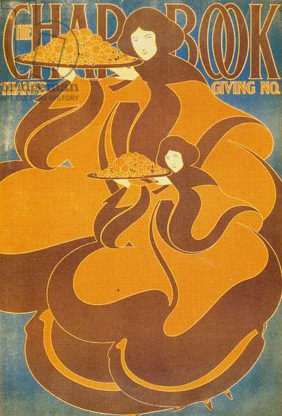 Thanksgiving, from a set of 'Chapbook' posters, November 1895 (colour litho)