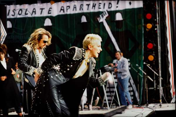 Annie Lennox and Dave Stewart of the Eurythmics at Nelson Mandela 70th Birthday Tribute Concert