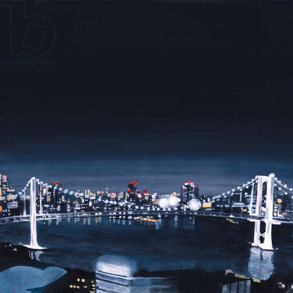 Night view,2013,(Acrylic paint on paper)