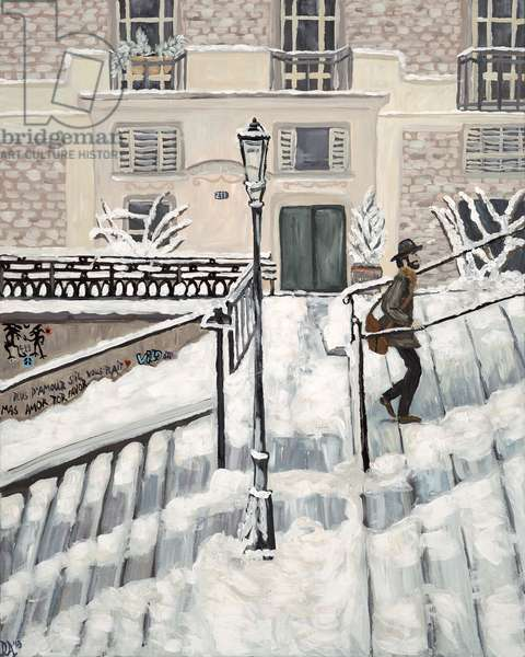 Montmartre Snow, 2017, (acrylic on canvas)