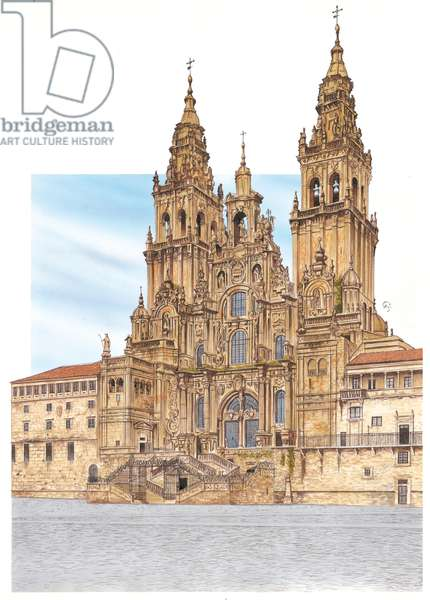 Santiago de Compostela. Western façade. Spain