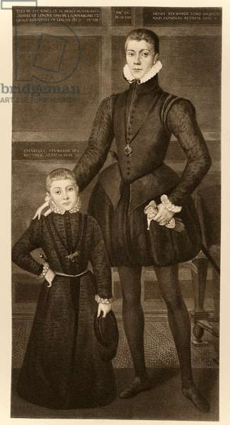 Henry, Lord Darnley (1545-1567) and his brother Charles (1555-1576) from 'James I and VI', printed by Manzi Joyant & Co. Paris, 1904 (collotype)