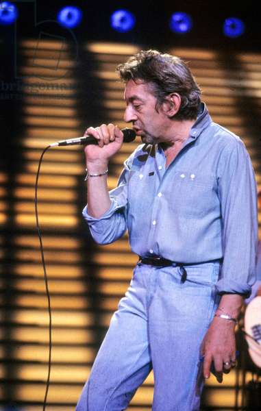Serge Gainsbourg on Stage September 20, 1985 (photo)