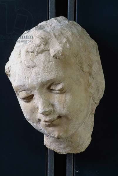 Head of Angel, Facade Majesty of the Times (limestone, sculpture)