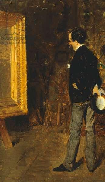 Portrait of Journalist Martino Cafiero, by Giuseppe de Nittis, 1872, oil on panel
