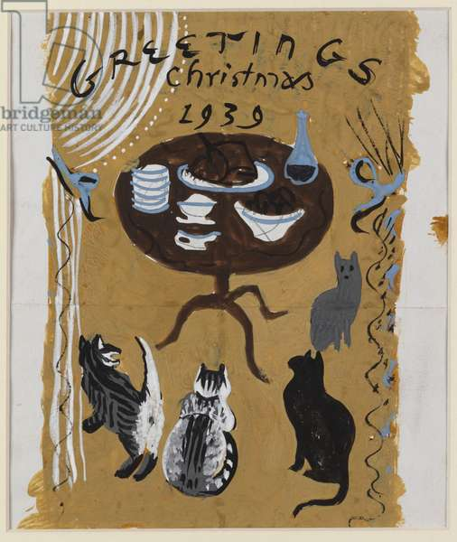 Christmas Card, 1939 (w/c on paper)
