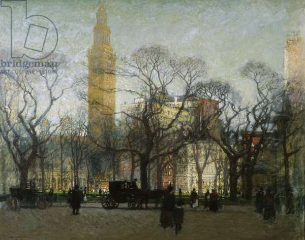Afternoon Madison Square, 1910 (oil on canvas)