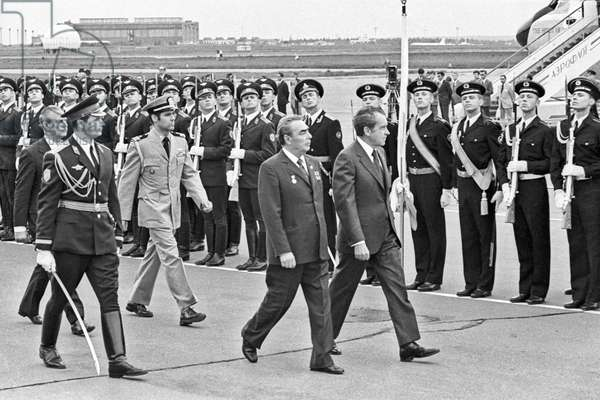 US President Richard Nixon Is Seen Off In The Airport In Moscow