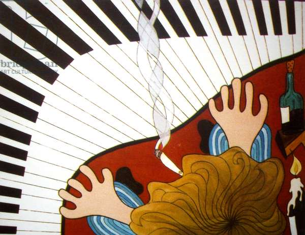 Piano man, 2001, oil on canvas