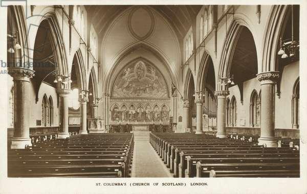 St Columba's, Church of Scotland, London (b/w photo)