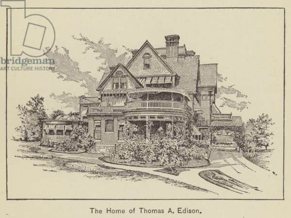 The Home of Thomas A Edison (engraving)