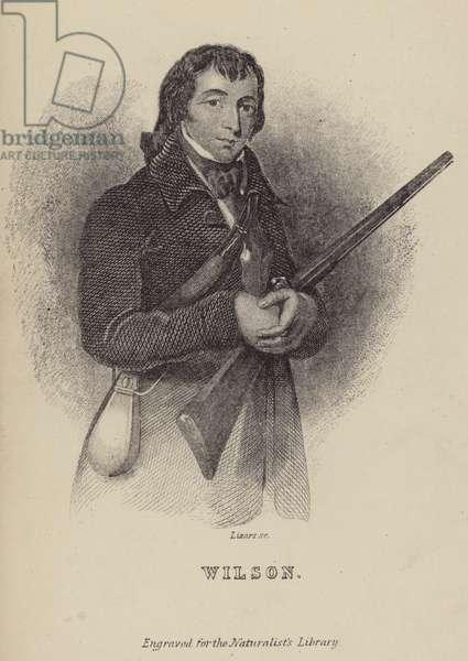 Alexander Wilson, Scottish ornithologist (engraving)