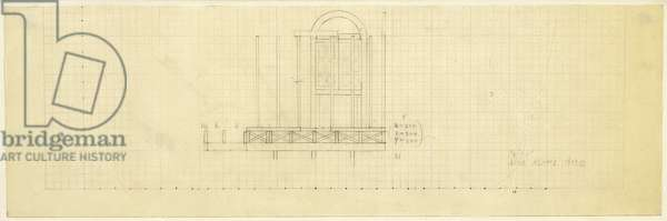 Untitled (Drawing For Adams House), 1977 (graphite on graph paper)