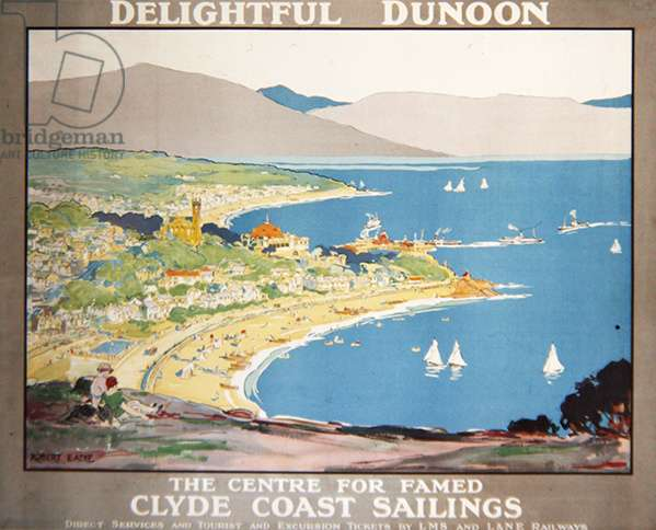 Delightful Dunoon, c.1928 (colour litho)