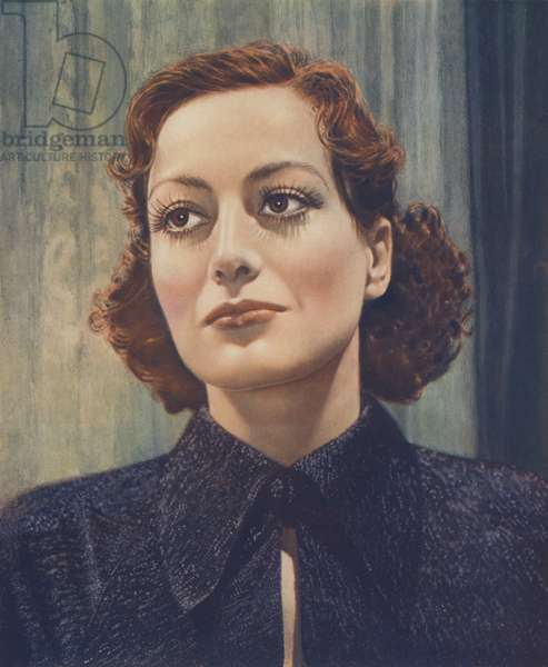 Joan Crawford (colour litho)