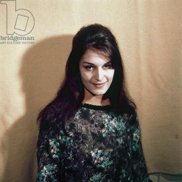 Portrait of Dalida smiling, France