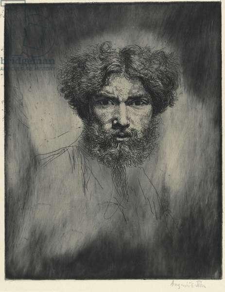 Portrait of the artist: 'Tête Farouche', 1906 (etching)
