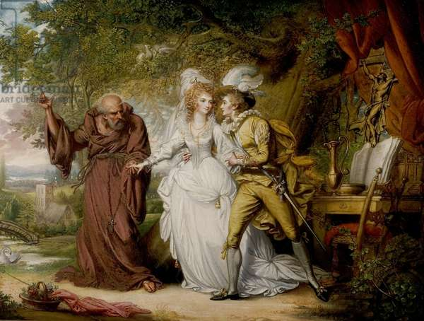 'Romeo and Juliet', Act II, Scene 4, Romeo and Juliet with Friar Lawrence, c.1805 (oil on canvas)