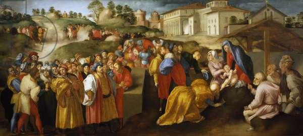 Adoration of Magi or Epifania Benintendi, by Jacopo da Pontormo (1494-1557)