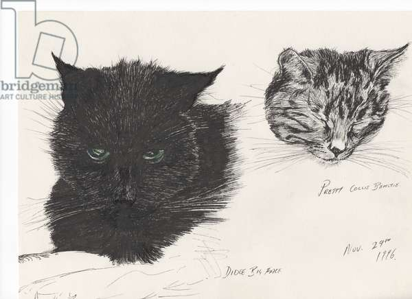 Diddybigface & colliebeastie, 1996 (ink on paper)