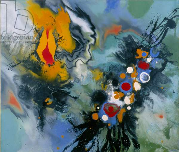 Hurricane, 1963 (gouache on paper)