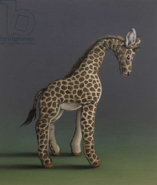 Giraffe - After Agasse, 2019, (oil on canvas)