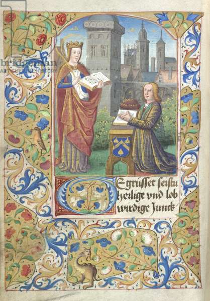 Patron with St Barbara