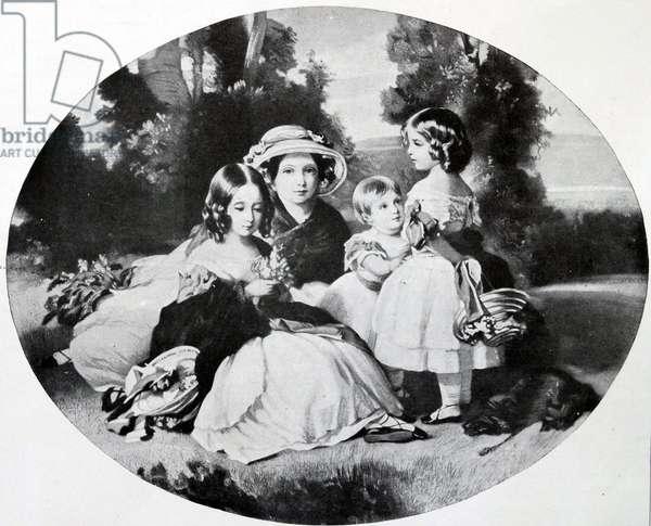 Four daughters of British Queen Victoria, 1854