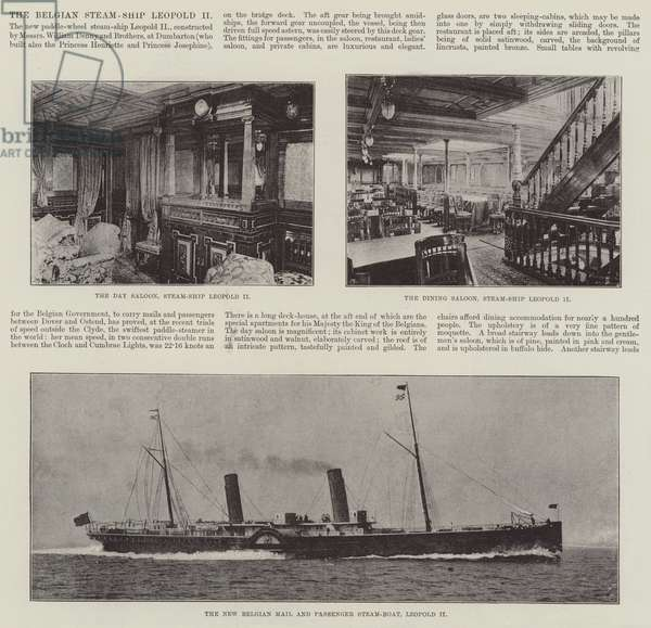 The Belgian Steam-Ship Leopold II (engraving)