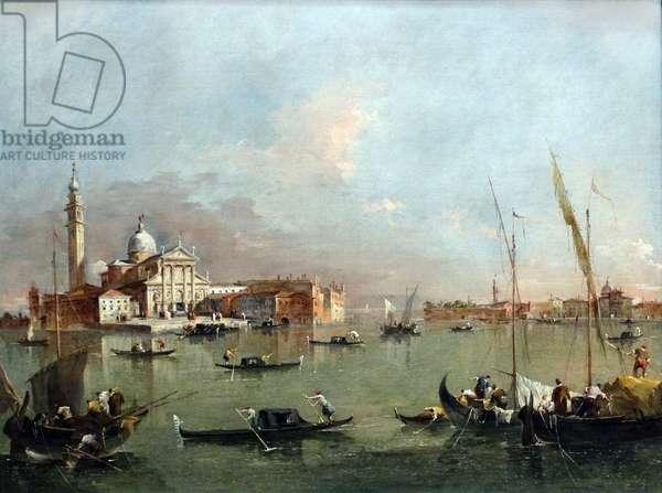 Venice: San Giorgio Maggiore with the Giudecca and the Zitelle by Francesco Guardi