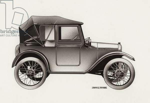 Model T Ford (gouache on paper)