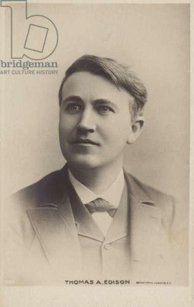Thomas Edison (1847-1931), American inventor (b/w photo)